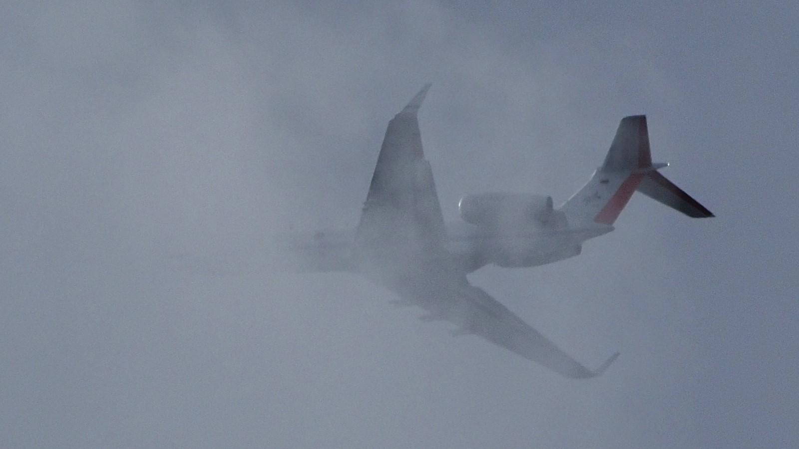 HALO flies in clouds over MIM