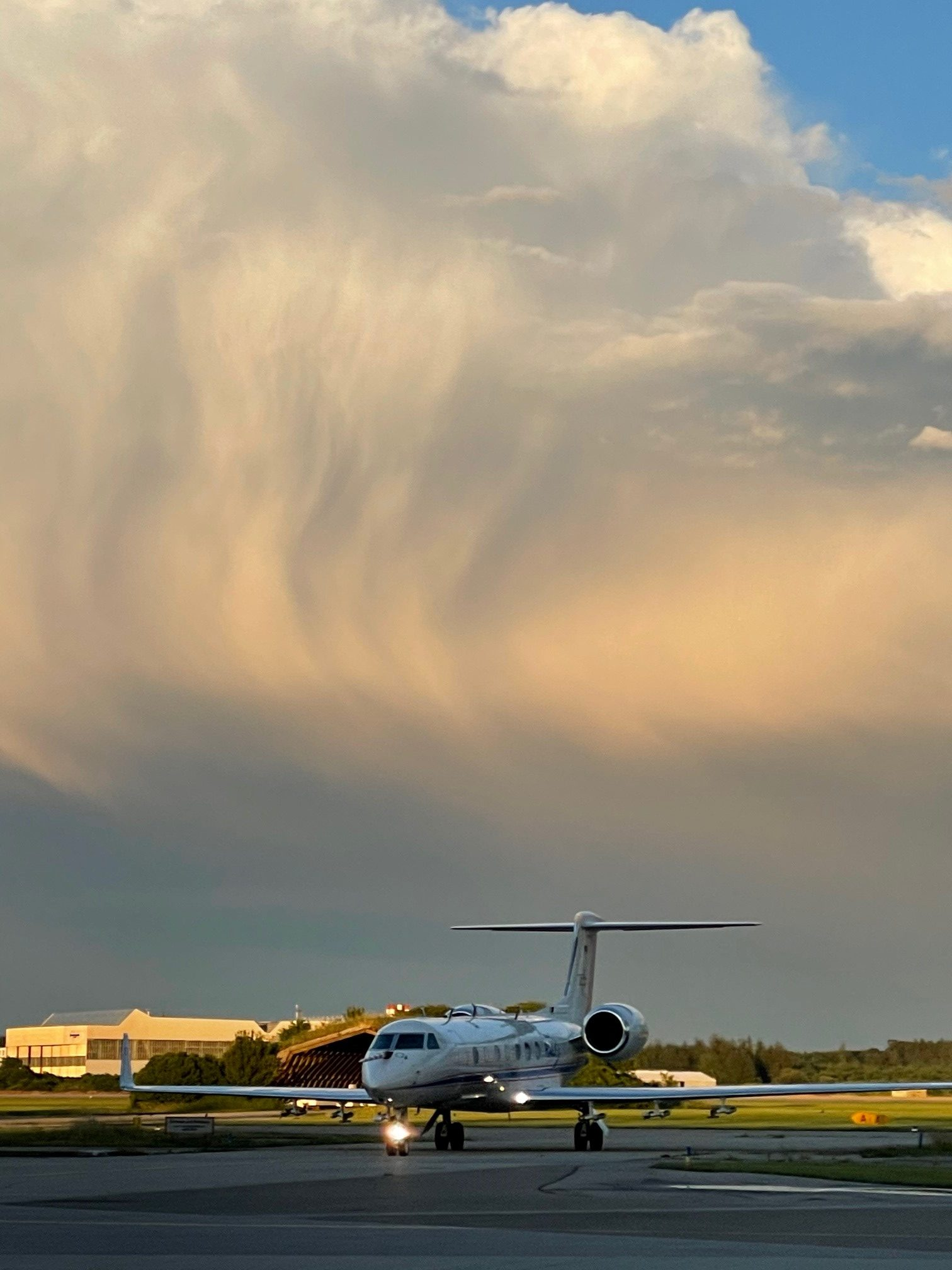 HALO with convective cirrus